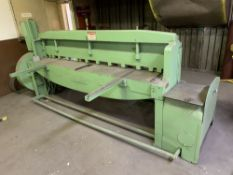 Located in Canon City CO: Wysong Shear, 8ft Model 1296, currently in use and under power , Loading