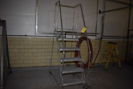 (Located in Mendota, IL) Cotterman Aluminum 5' Portable Stairs (Located In Grader Area Upstairs)
