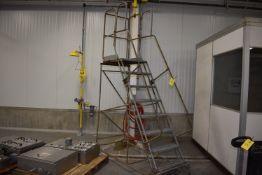 (Located in Mendota, IL) Cotterman Aluminum 6' Portable Stairs