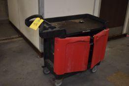 (Located in Mendota, IL) Rubbermaid Trade Master 4-Wheel Tool Cart
