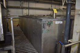 (Located in Mendota, IL) Stainless Steel Tank, 16' x 3' x 5' Depth