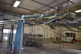 (Located in Mendota, IL) Conveyor - Approx. 20' Lead-In Motorized Conveyor, SS Frame
