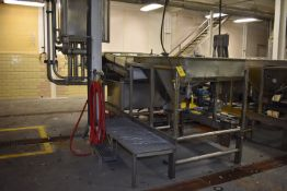 (Located in Mendota, IL) SS Grader Consisting of 6' x 4' Motorized Belt Conveyor, SS Sizer, ID #4