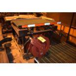 (Located in Sleepy Eye, MN) (2) Lincoln Hose Reels Mounted on Platform