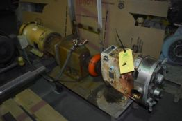 Waukesha Pump, Model #60, SN 108513, Includes 10 HP Motor