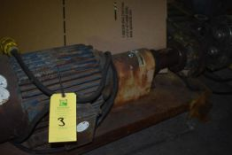 Worthington Model #D814 Pump, 2 1/2 x 1 1/2 x 8, w/Approx. 10 HP Motor