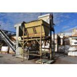 """Hopper, 72"""" x 48"""", Mounted on Steel Leg Base, Bottom Conveyor"""