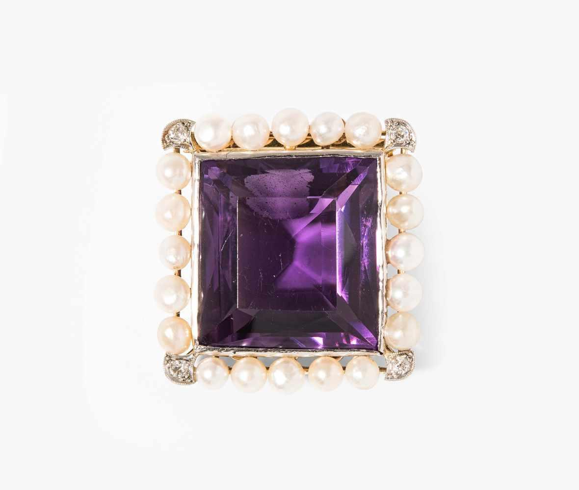 Lot 2017 - Amethyst-Perlen-Diamant-Verschluss