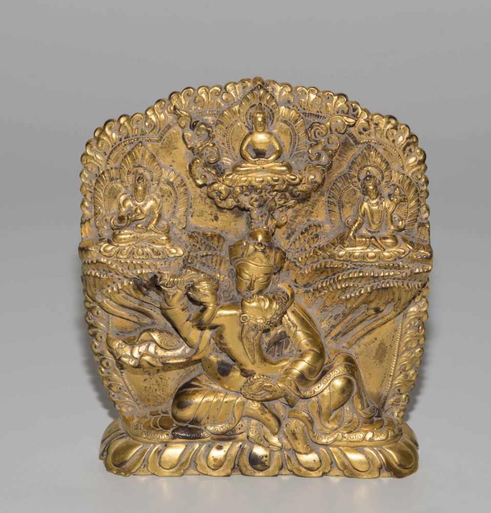 Lot 1027 - Padmasambhava in Yab-Yum