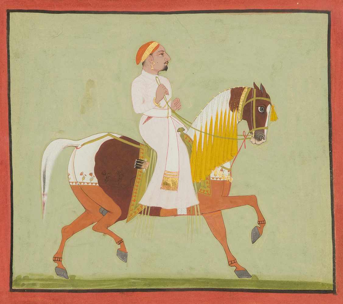 Lot 1008 - Portrait eines Nobelmannes zu Pferd