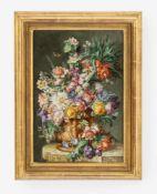 Porzellanbild, KPM BerlinUm 1900/nach 1900. Auf rechteckiger Porzellanplatte bunt gemaltes