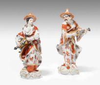 Figurenpaar, MeissenMalebar und Malebarin. Entwurf: Friedrich Elias Meyer 1751, Ausformung um