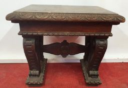 A 19th Century Timber Seat.44w x 32 x 40h cms.