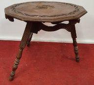 ALFRED'S OFFICE-WESSEX: A very unusual 19th Century Oak Folding Table.80w x 72h cms.