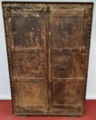 A very unusual Metal two door Cabinet.90w x 35d x 137h cms.