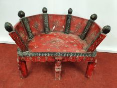 PRINCE OLEG'S BEDROOM: A Seat.61w x seat h 26 cms.