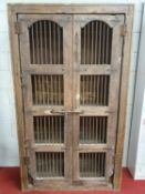A good two door Timber Cabinet.117w x 44d x 201h cms.