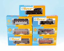 7 ROCO Personen- und Packwagen