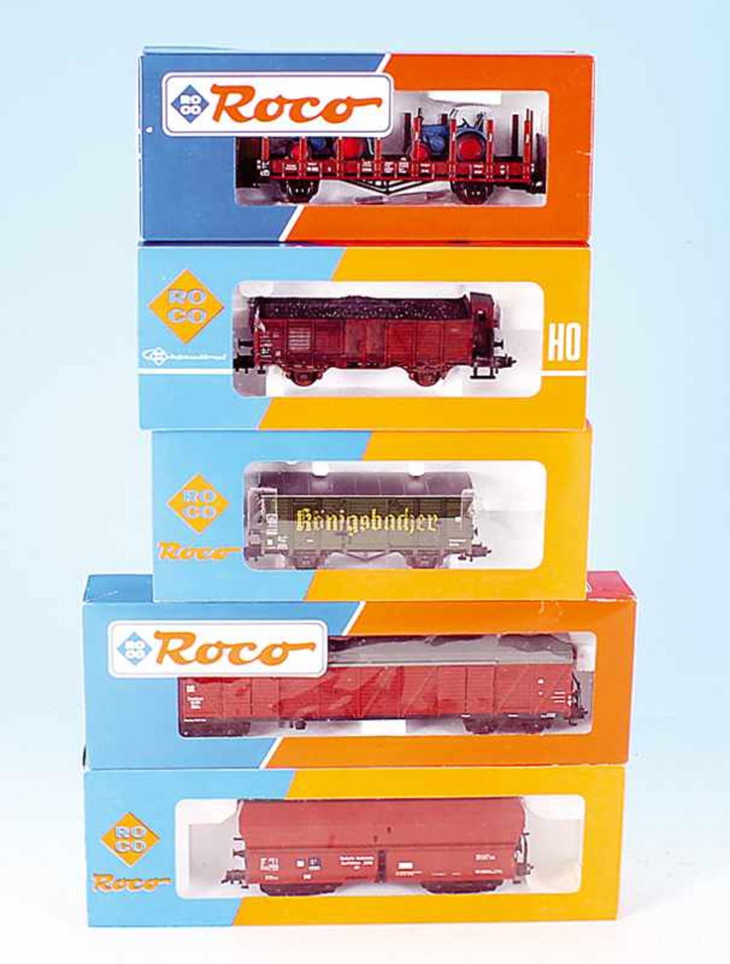 Los 36 - 5 ROCO Güterwagen