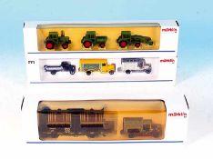 3 MÄRKLIN Wagen und LKW-Packungen