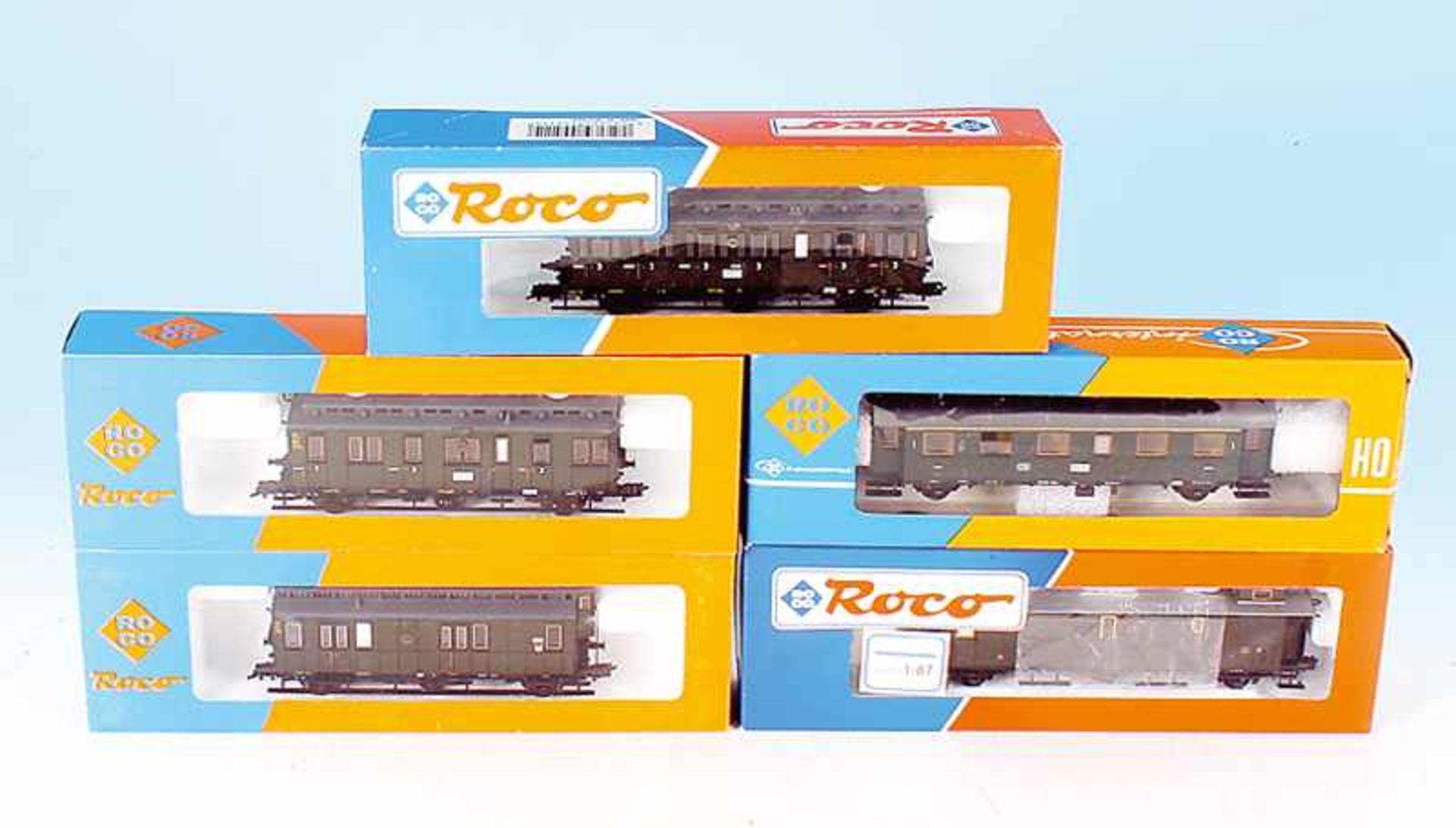 Los 32 - 5 ROCO Personenwagen