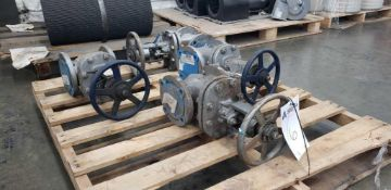 "Lot of 4 Flowserve Butterfly Valves 4"" Diameter"