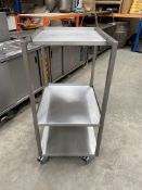 Stainless Steel 3 Tier Microwave Table,On Wheels