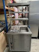 Bain Marie Hotcupboard with 3 Tier Heated Gantry