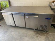 3 Door Refrigerated Prep Counter Fridge