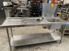 Stainless Steel Dishwasher Sink and Spray arm