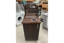 Dark wood Dumb Waiter for Condiments and waste