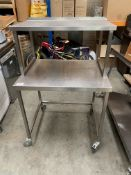 Stainless Steel Table with Over Shelf