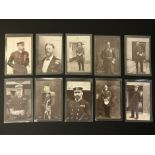 THE BRITISH ADMIRALS - COMPLETE SET OF TEN POSTCARDS OF THE STAR SERIES PRINTED IN BAVARIA