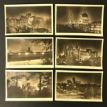 CATHEDRALS BY MOONLIGHT SERIES COMPLETE SET OF SIX POSTCARDS BY THE TIMES