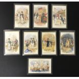 LORD NELSON IN SET OF EIGHT OLD UNUSED POSTCARDS