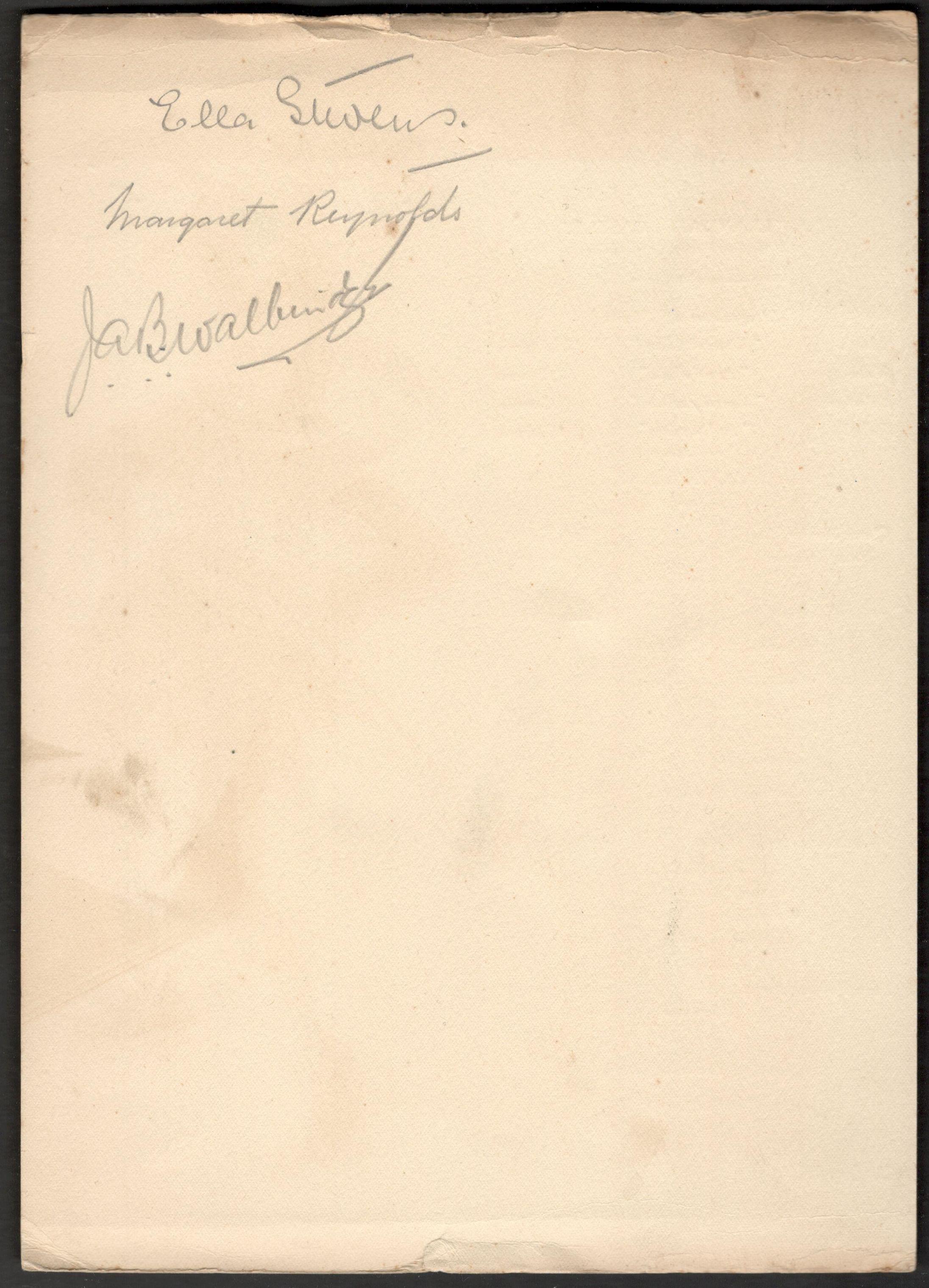 Lot 11 - 1936 UNION-CASTLE LINE S.S. LLANDAFF CASTLE PROGRAMME & MENU SIGNED ON THE BACK