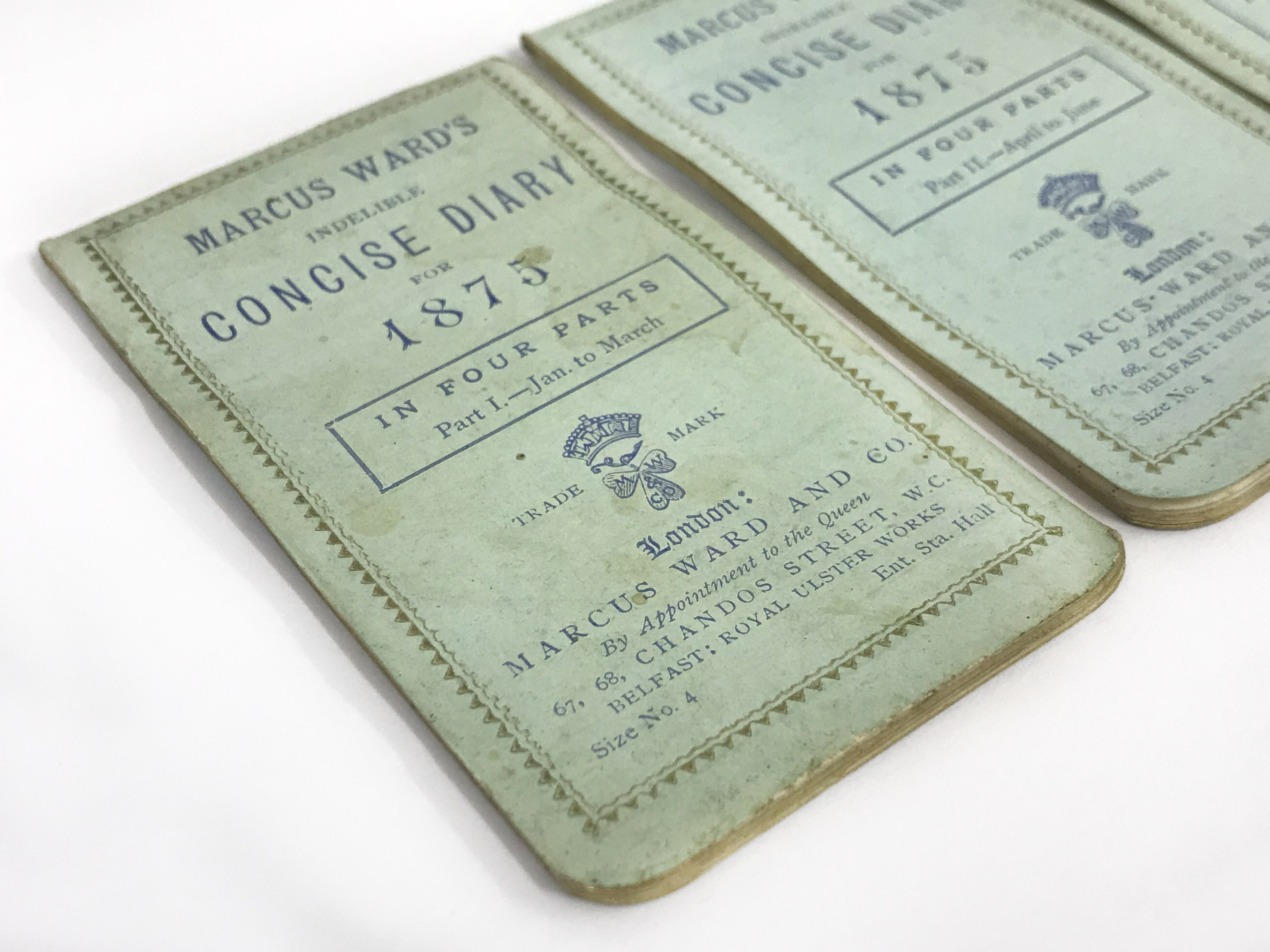 Lot 23 - MARCUS WARD'S IMPROVED INDELIBLE CONCISE DIARY IN FOUR PARTS FOR 1875