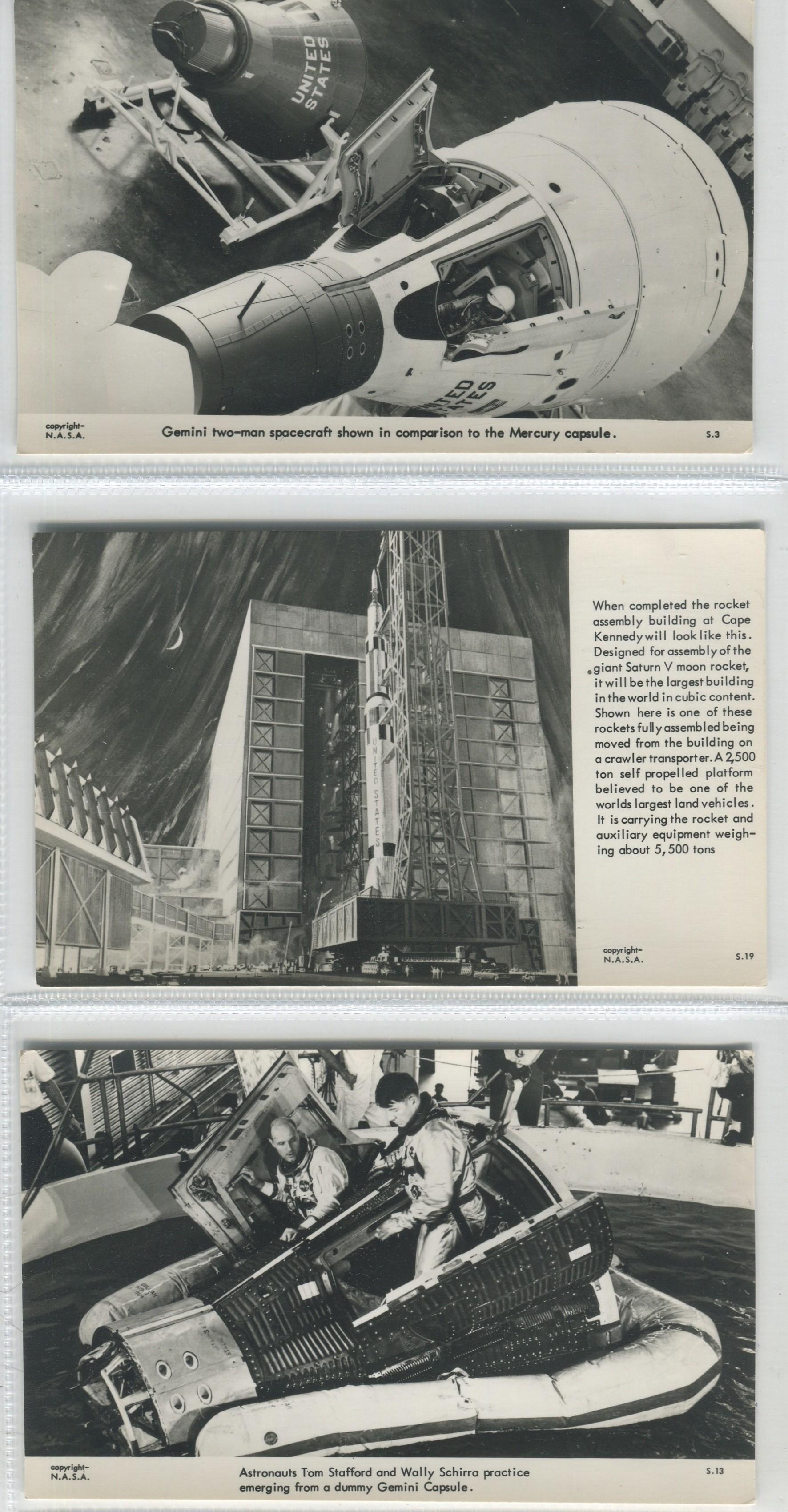 Lot 113 - THREE VINTAGE NASA POSTCARDS