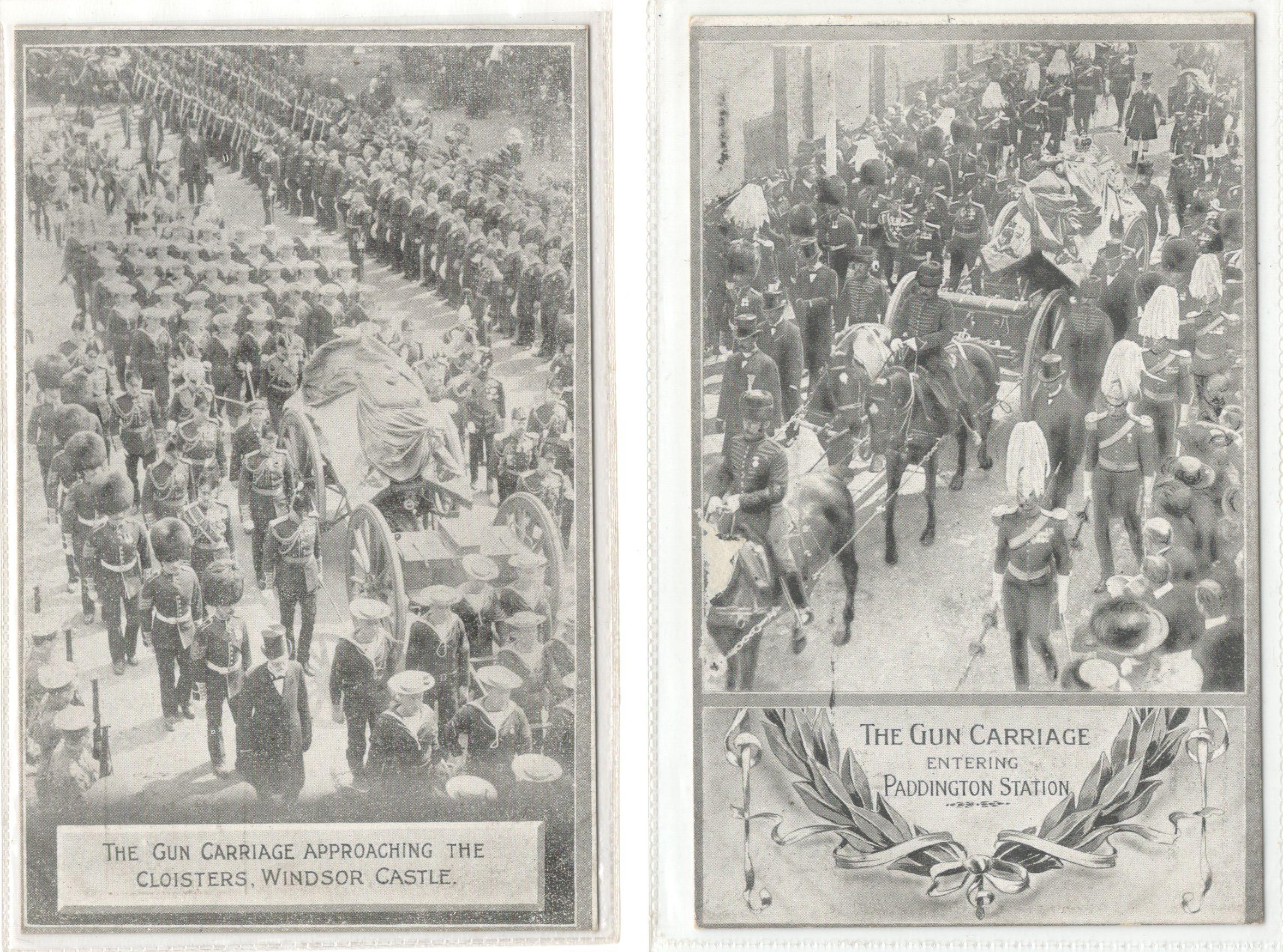 Lot 98 - FOUR MILITARY PRINTED POSTCARDS FROM PHOTOS BY UNDERWOOD & UNDERWOOD ARIVAL AT St GEORGE'S