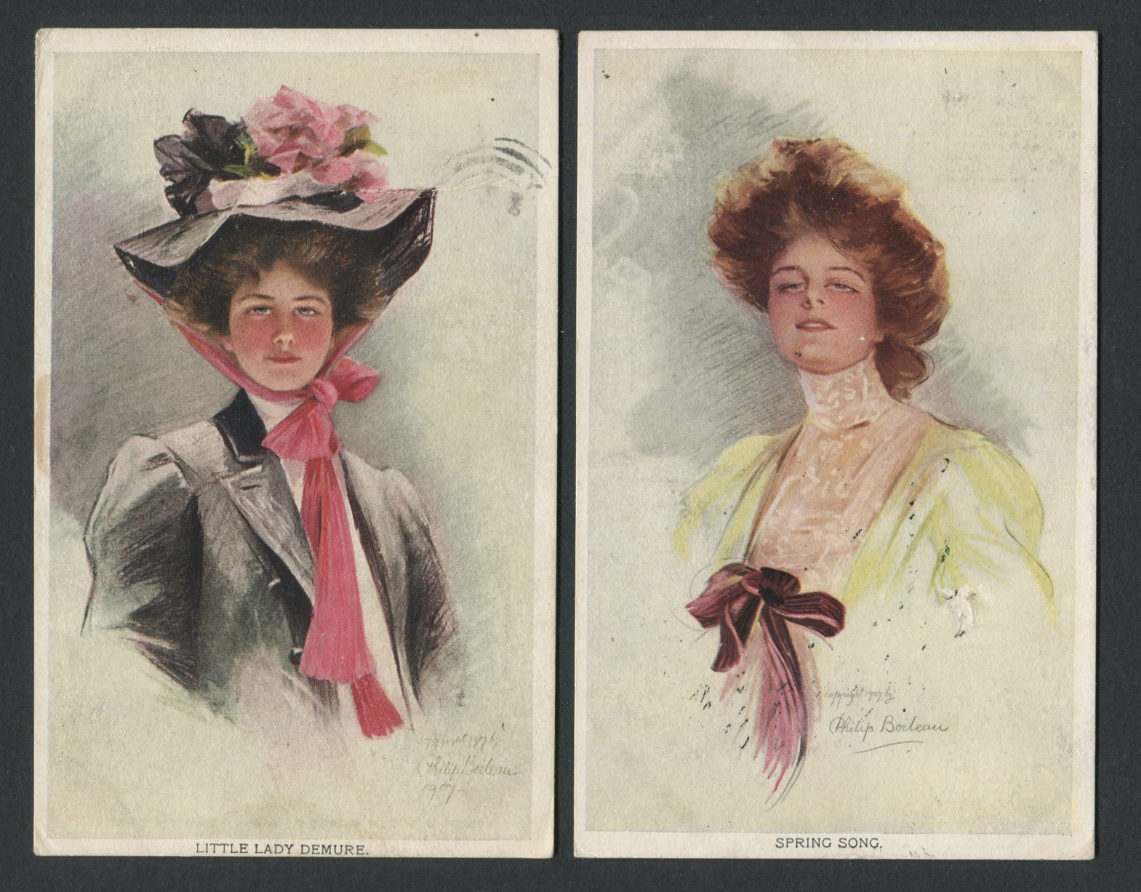 Lot 56 - TWO VINTAGE GLAMOUR POSTCARDS