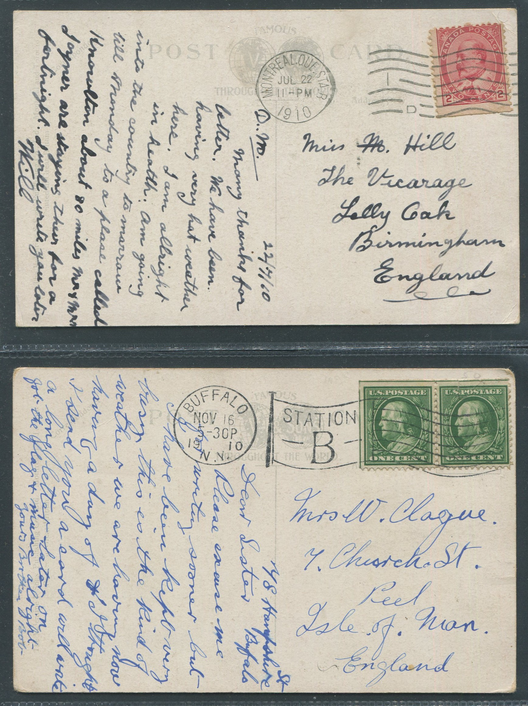 Lot 112 - CANADIAN HOMESTEAD LIFE TWO ANTIQUE POSTCARDS