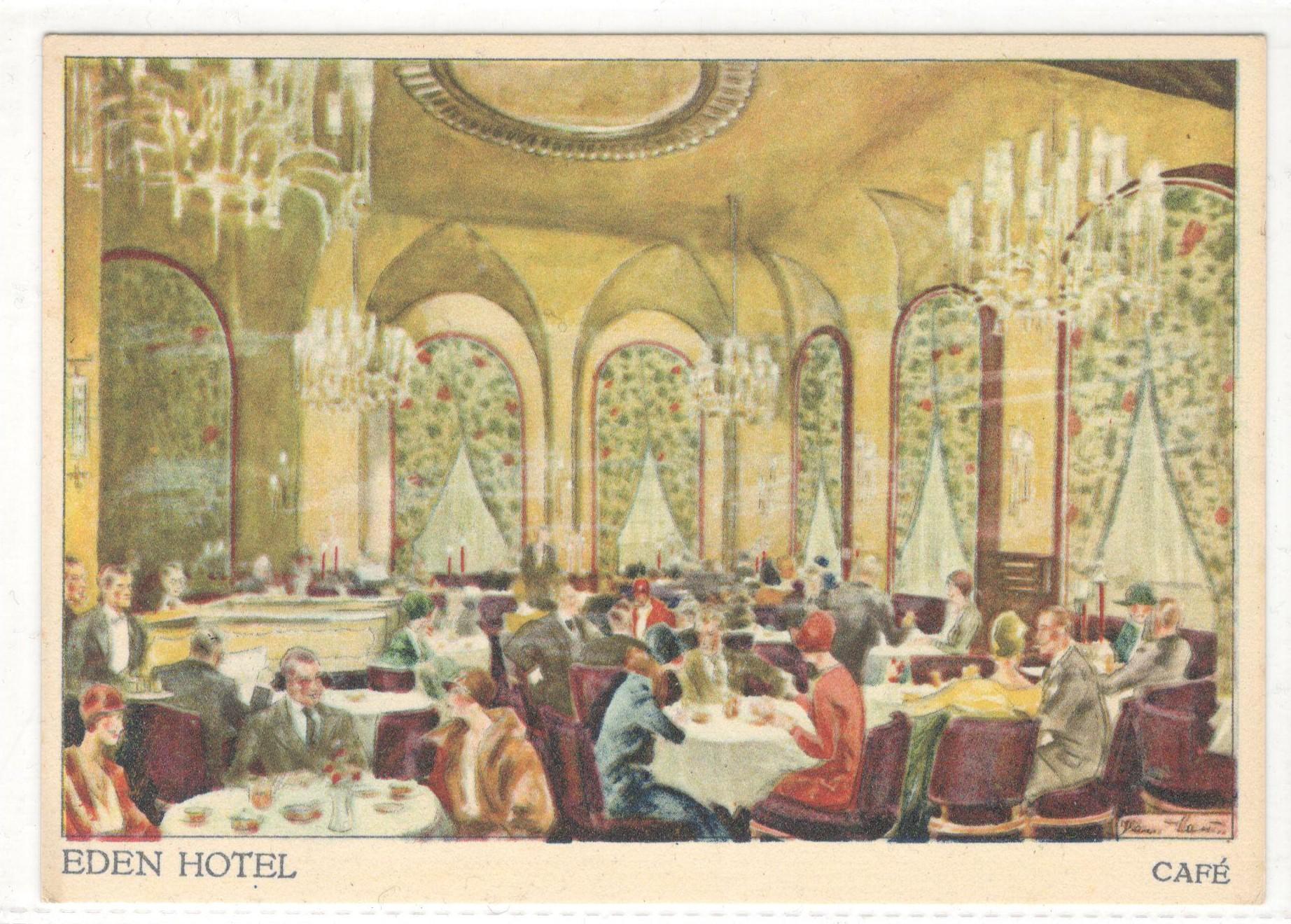 Lot 61 - FIVE VINTAGE EDEN HOTEL WEST BERLIN POSTCARDS