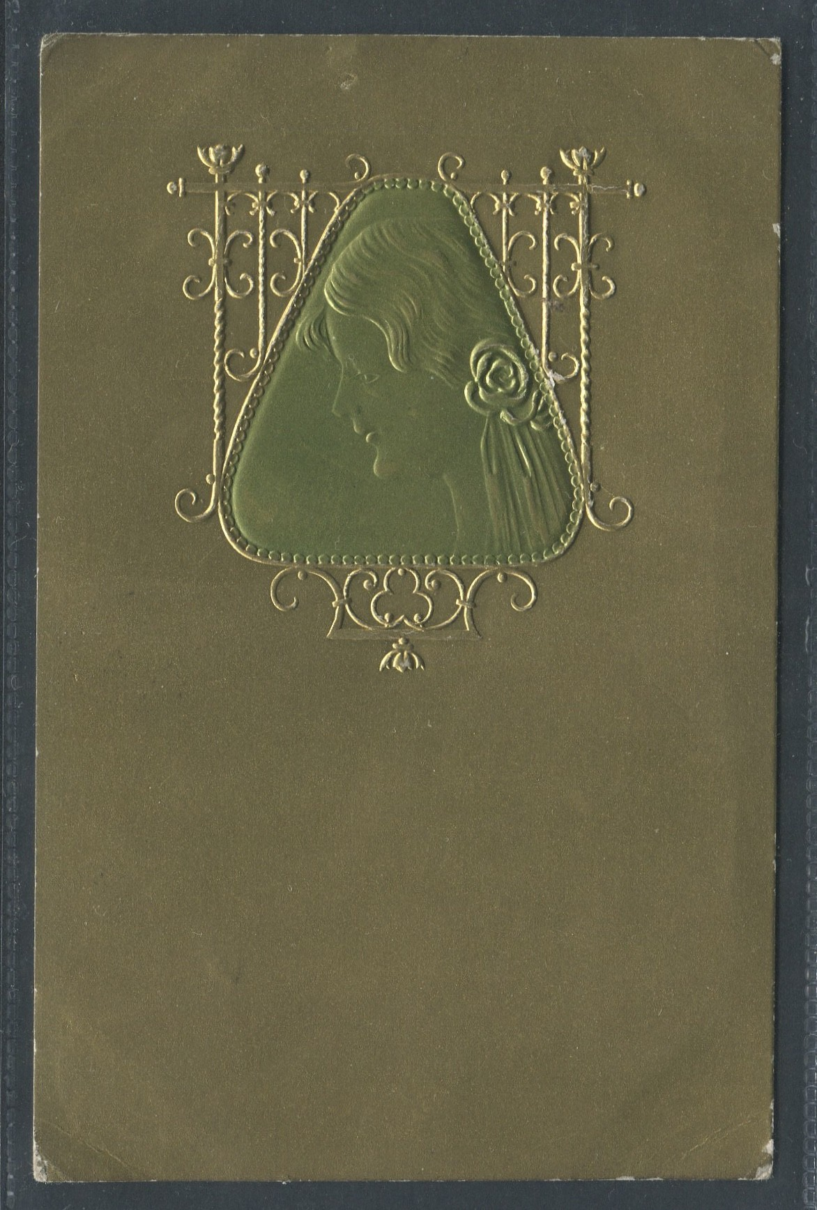 Lot 34 - ART NOUVEAU STYLE EMBOSSED POSTCARD