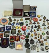 COLLECTION OF VARIOUS BADGES & MEDALS