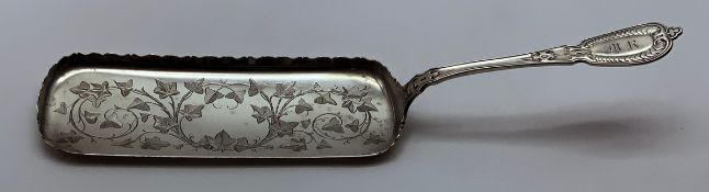 19TH C TIFFANY & CO SOLID STERLING SILVER CRUMBER JOHN POLHAMUS PATENT