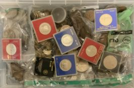 SELECTION OF VARIOUS COINS INCLUDING SOME RUSSIAN AND POLISH SILVER COINS