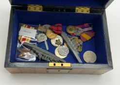 BOX OF VARIOUS MEDALS