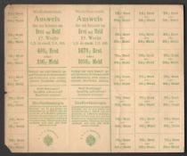 NIEDEROSTERREICH AUSWEIS 1915 LOWER AUSTRIA IDENTIFICATION PAPER IN ACCEPTABLE CONDITION