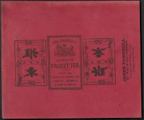 WRAPPER FOR THE CHOICEST LONDON PACKET TEA BY JAMES TURNBULL WITH CHINESE WRITING