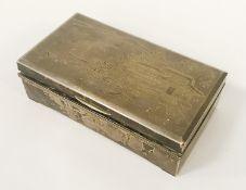 JAPANESE SILVER CIGARETTE BOX